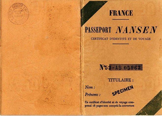 Обложка Нансеновского паспорта. Фотоsputnik-news.ee