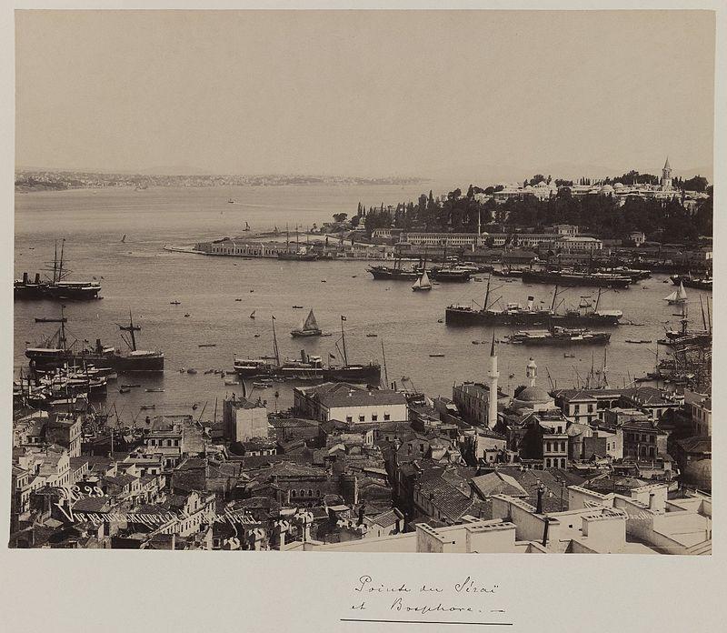 Паскаль Себа. Часть панорамной фотографии с видом на дворец Топкапы,Константинополь. Между1860 и 1880 годами.Нью-Йорк, Бруклинский музей