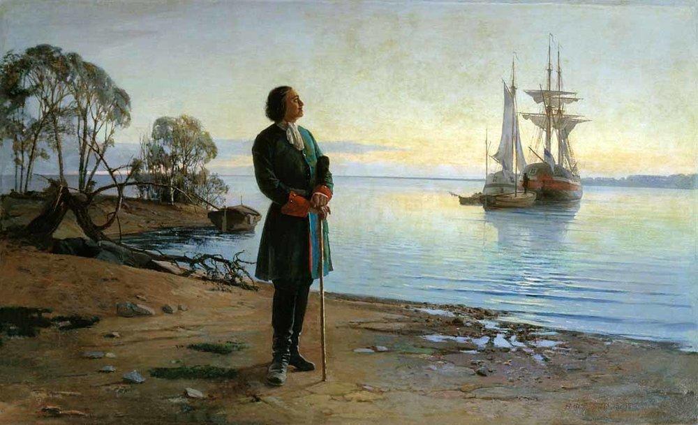 Н.Ф.Добровольский.«Здесь будет город заложен»,1880