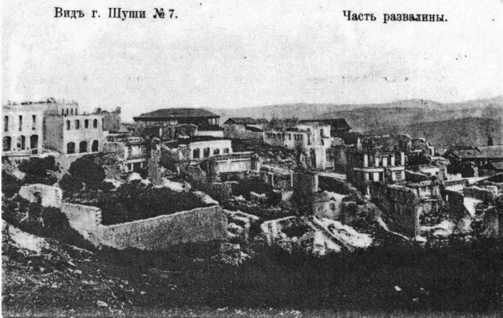 Шушинская резня - массовые убийства в марте 1920 годаармянского населения городаШуша (Нагорный Карабах), в результате которых погибло, по разным оценкам, от 500 до 30 тыс. местных жителей-армян, была сожжена и разрушена армянская часть города и изгнано всё армянское население.