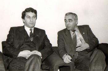 С ПервымпрезидентомАбхазии В.Г. Ардзинба