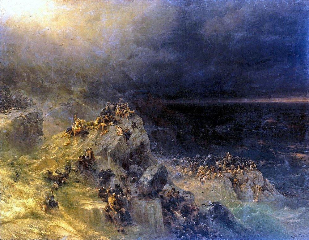 Иван Айвазовский. «Всемирный потоп», 1864