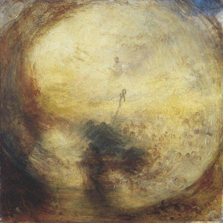Уильям Тёрнер. «Свет и цвет. Утро после потопа. Моисей пишет Книгу Бытия», 1843