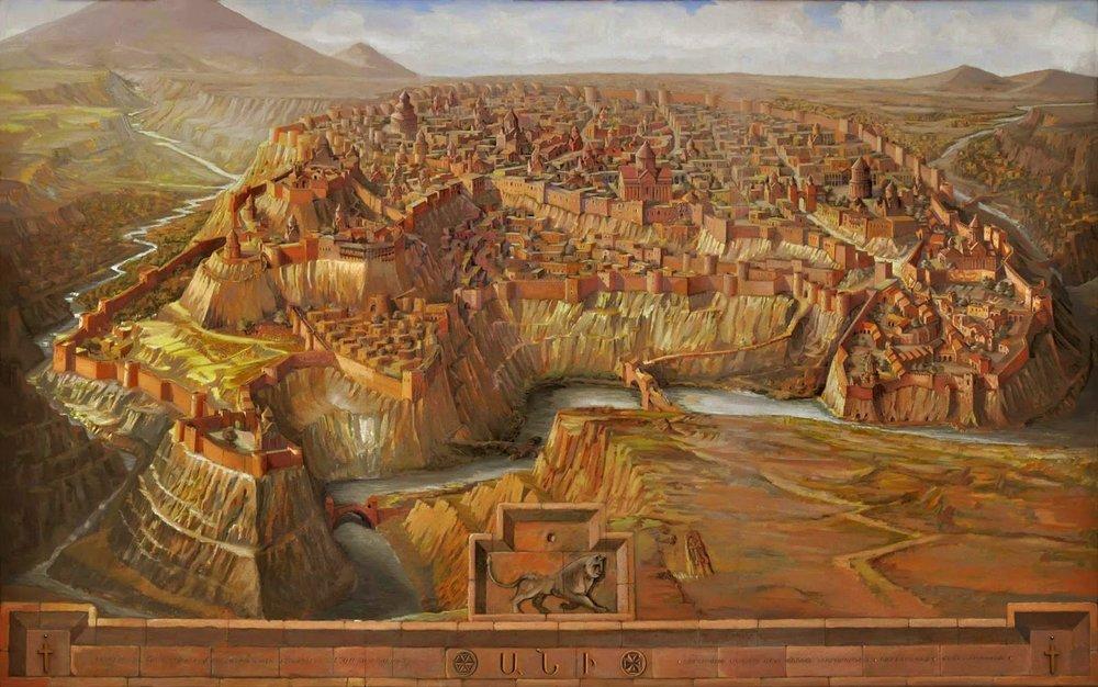 Ани изначально лежал в стороне отторговых путей, но благодаря своему размеру, мощи и богатству стал важным торговым узлом.