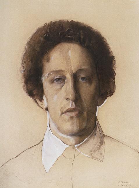 Константин Сомов.Портрет Александра Александровича Блока,1907