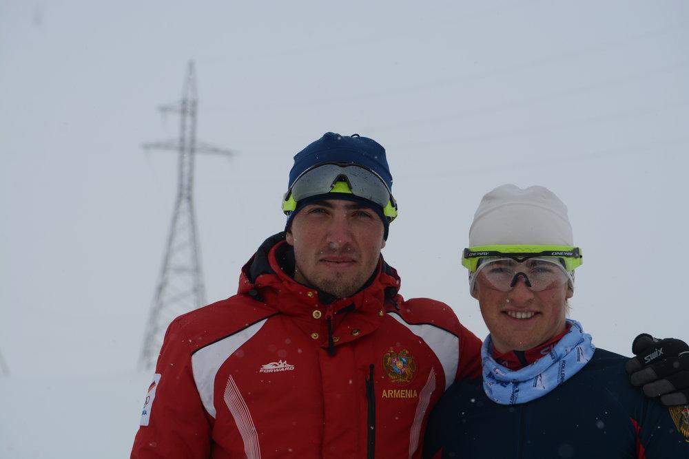 Лыжные гонки – Микаел Микаелян, Катя Галстян. фото armnoc.am