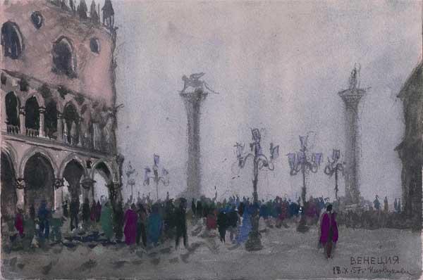 Венеция. Пьяцетта, акварель (1).jpg