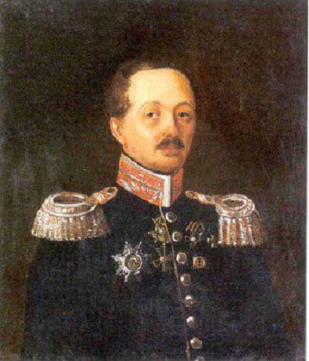 Неизвестный художник середины ХIХ века. Портрет Ираклия Баратынского