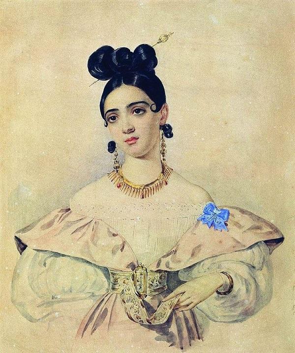 Александр Брюллов. Портрет Анны Абамелек-Баратынской, между1835 и 1838 годами