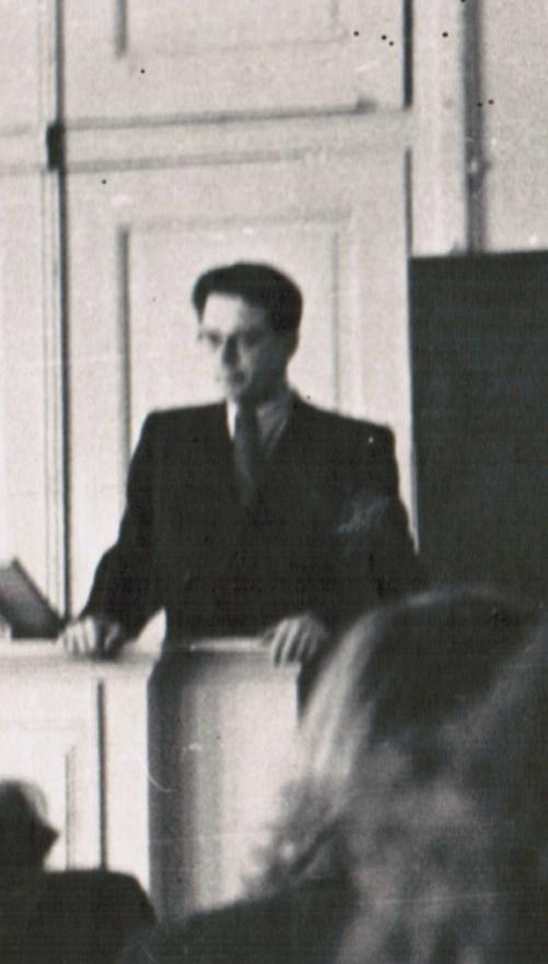 Рэм Блюм.Лекция в аудитории главного здания университета. 1962г.