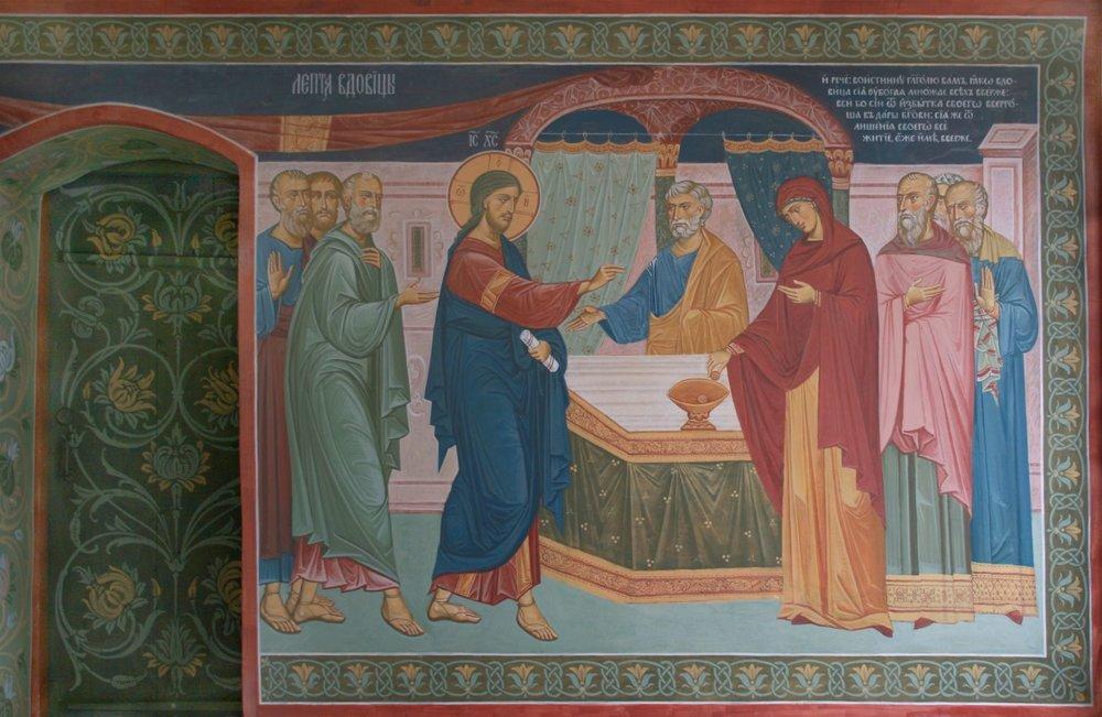 Фрагмент росписиСвятых врат Толгского монастыря. Фото:unionart76.ru