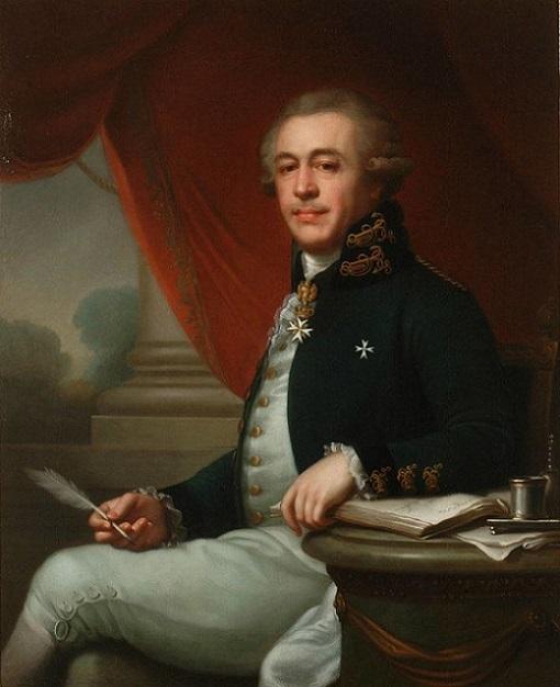 Иоганн Баптист Лампи старший. Портрет Ивана Лазаревича Лазарева,1790