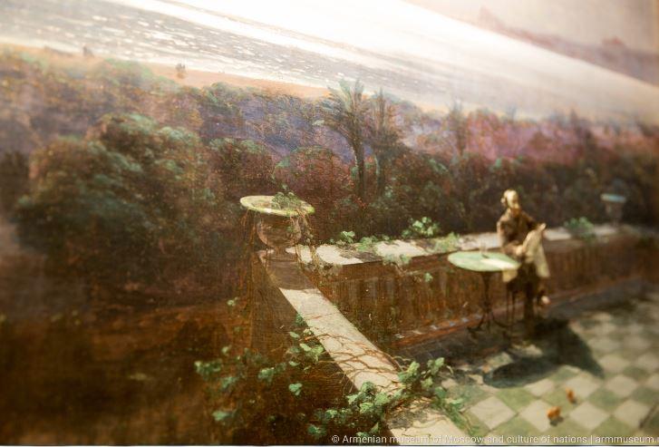 «Феодосия в лунную ночь. Вид с балкона дома Айвазовского на море», 1881 Фрагмент. Частная коллекция. Москва