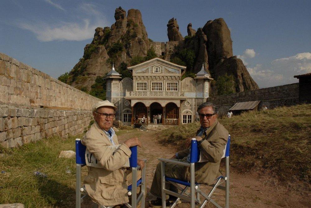 БратьяТавиани на съемках фильма«Гнездо жаворонка»