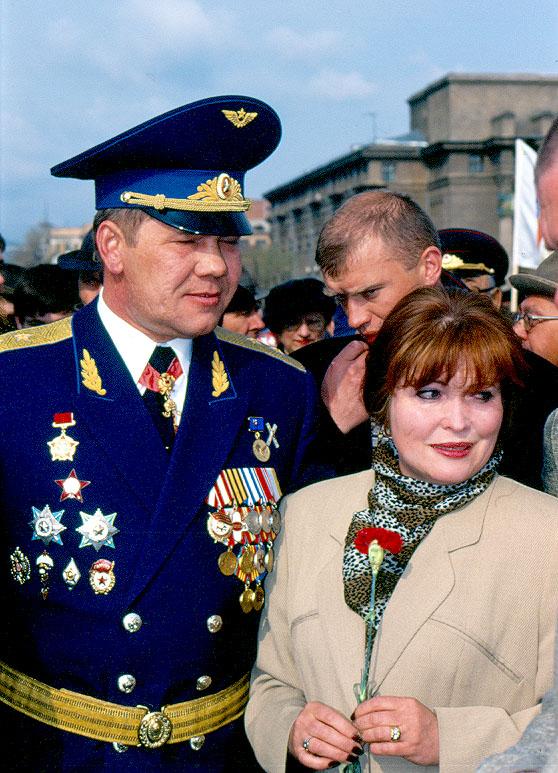 Александр Иванович Лебедь с женой Инной.