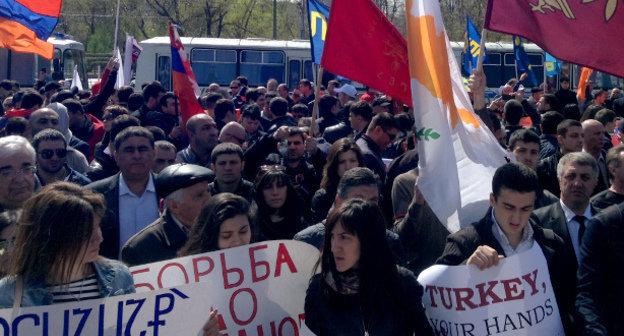 24 апреля армяне всего мира почтут память жертв Геноцида в Османской империи в 1915 году. Фотоkavkaz-uzel.eu