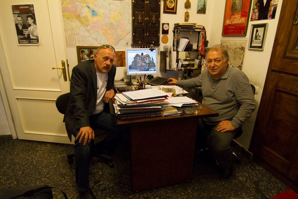 Либор Спимр и директор музея Параджанова Завен Саргсян