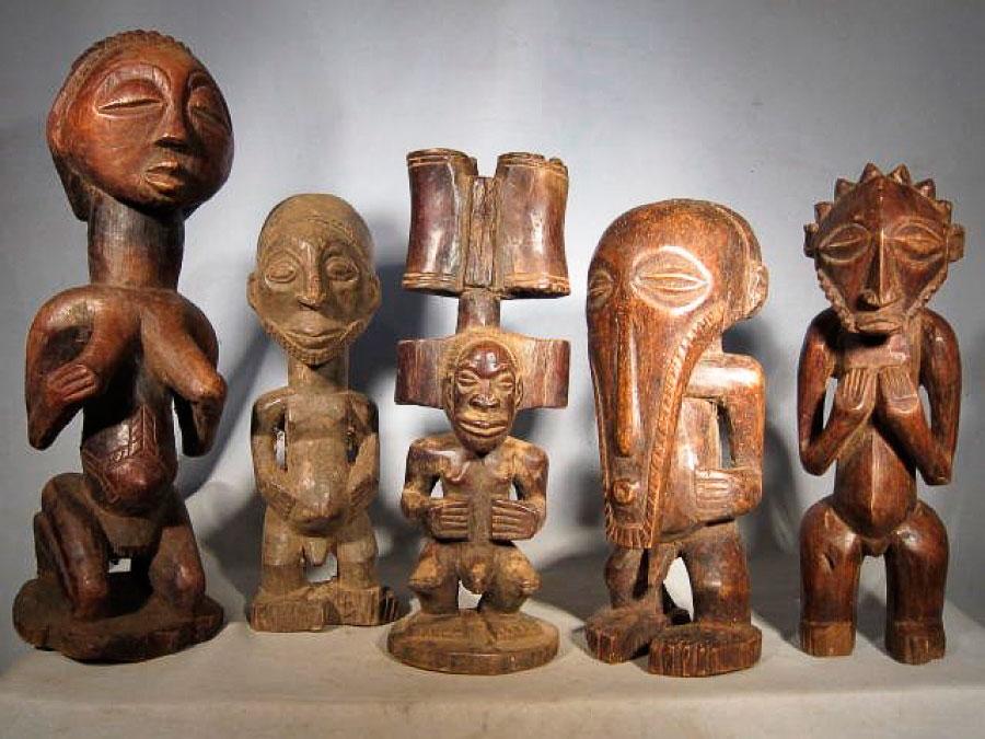 Деревянные африканские статуэтки - наив, экспрессия, глубина связей с природой. Фотоrukodelnoe.ru