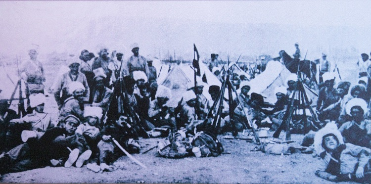 Армянские ополченцы накануне Сардарапатской битвы.