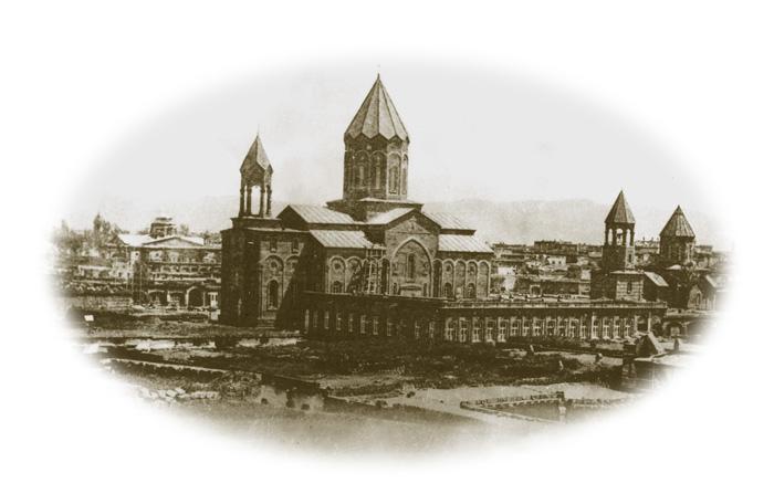 Старый Александрополь с видом на ЦерковьСурб Аменапркич,построеннуюв 1858–1872 годах