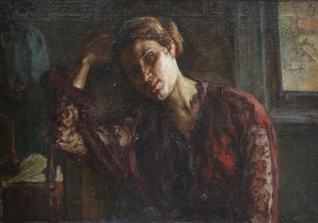 Степан Агаджанян.«Думы» (Портрет Е.С. Суховей),1914