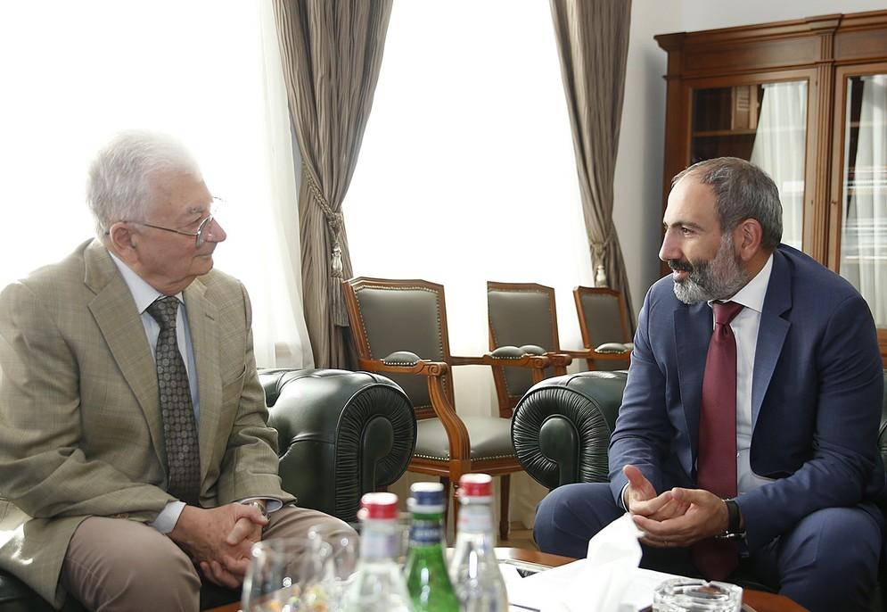 Юрий Оганесян на встрече с Николом Пашиняном | primeminister.am