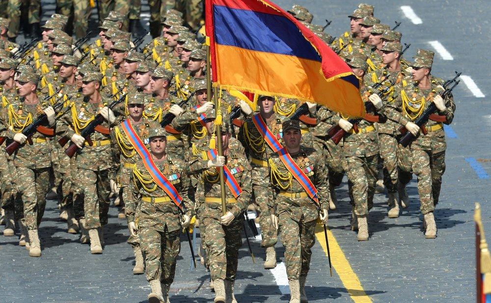 Военнослужащие из Армении на параде в честь 70-летия Победы в Москве
