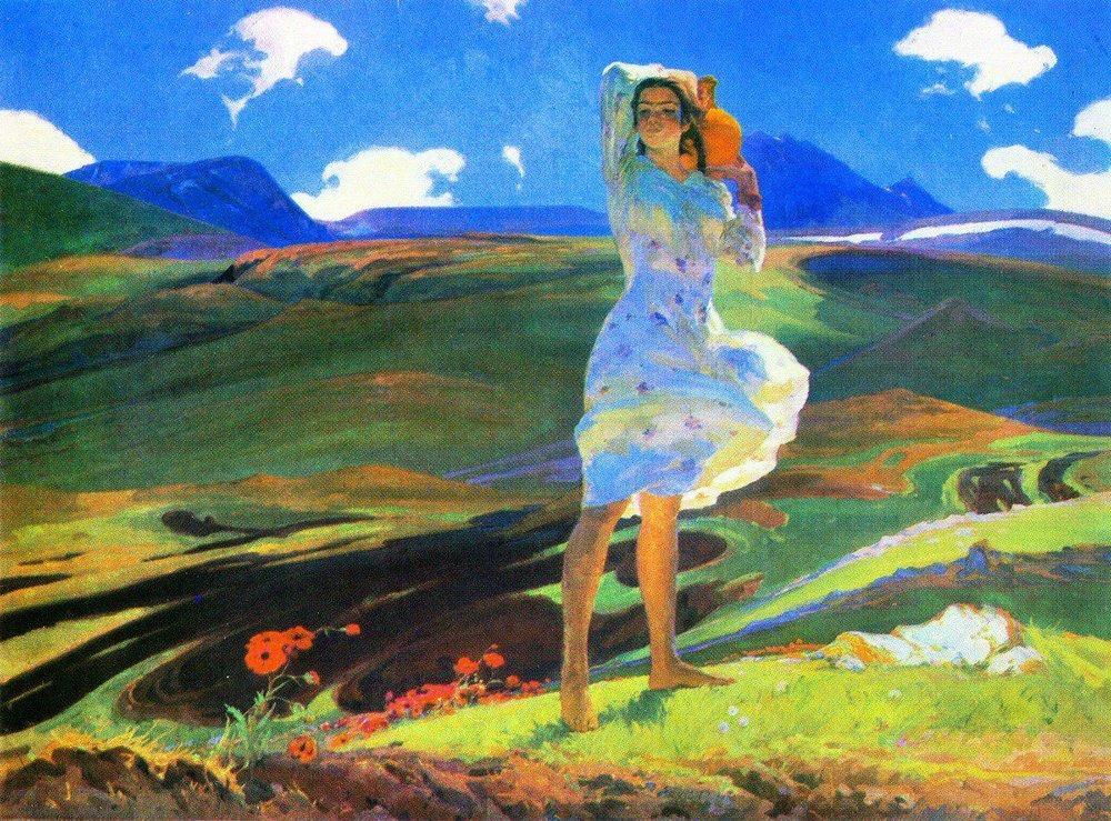 «Весна» 1956 года, Третьяковская галерея, Москва