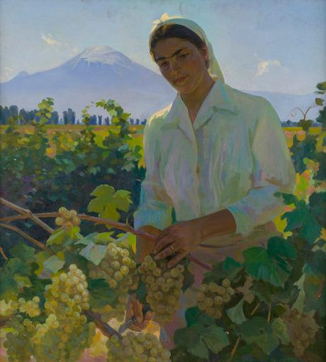 «Портрет работницы совхоза ПогосянА.» 1953 года, Национальная галерея Армении