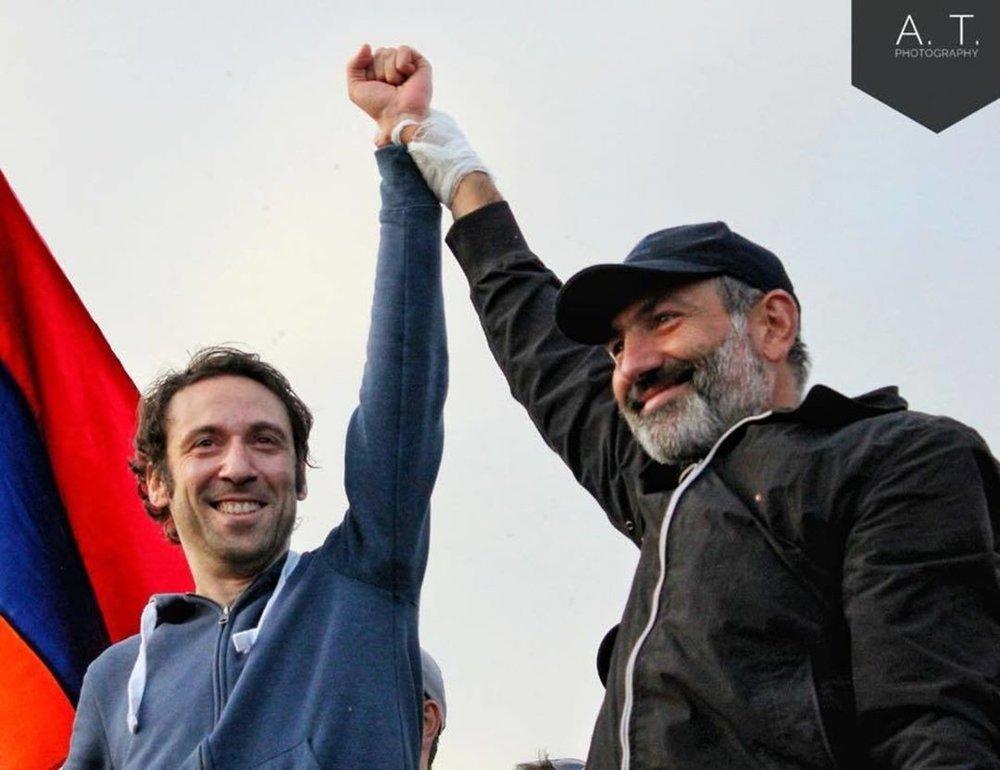 Айк Марутян и Никол Пашинян | newstime.am
