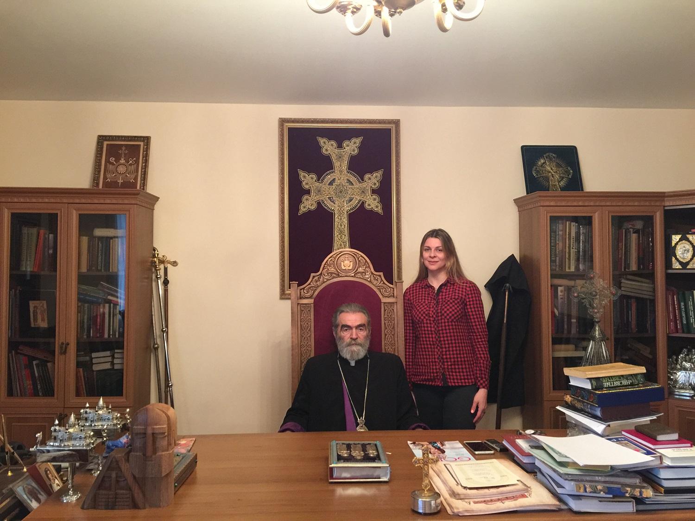 Архиепископ Паргев и Елена Шуваева-Петросян