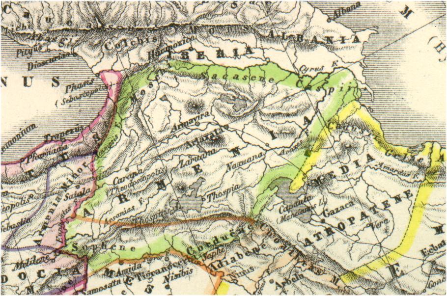 Карта Великой Армении (берлинское издание, 1869 год)
