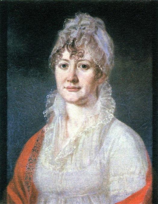 Елизавета Алексеевна Арсеньева, «самая знаменитая бабушка русской литературы». Лермонтову было три года, когда умерла его мать. На воспитание мальчика взяла бабушка. Портрет начала XIX века кисти неизвестного художника