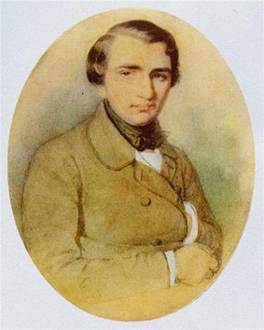 Иван Тургенев в молодости. Рисунок К. А. Горбунова, 1838