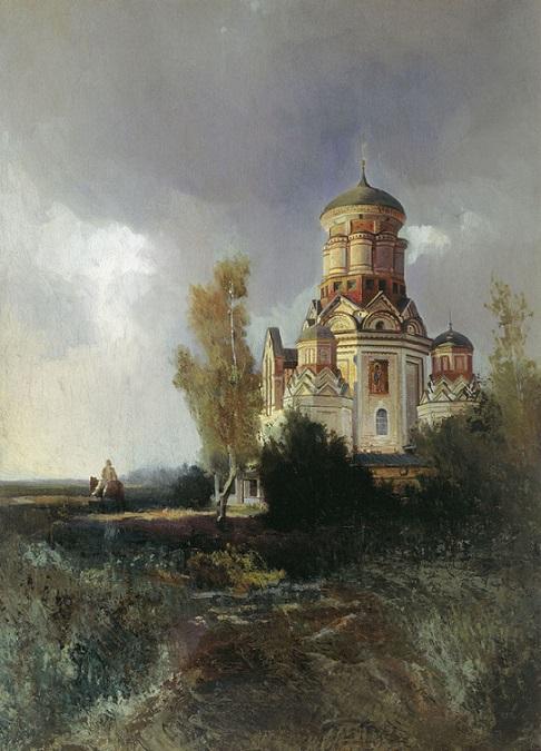 Дьяковская церковь на пейзажном этюде Н. Маковского ǁ wikipedia.org