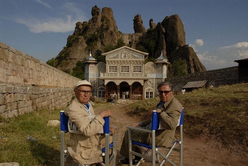 Братья Тавиани на съемках фильма «Гнездо жаворонка»