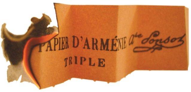 Если зайти в любую французскую аптеку и попросить «Армянскую бумагу» или, как называют ее французы «Papier d'Armenie» , то вы получите упаковку душистых нарезанных бумаг, приятных на ощупь. Чтобы испробовать бумагу в деле, нужно поджечь ее в курильнице — она будет гореть без пламени. Эффект будет неожиданный: вы почувствуете легкий, приятный аромат, который, к тому же, имеет дезинфицирующие свойства. Французы пользуются армянской бумагой уже более ста лет, тогда как в самой Армении она является диковинкой ǁ imyerevan.com