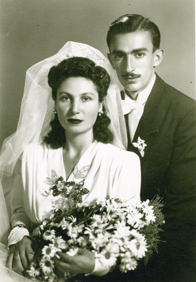 Геворк и Гоар в день своей первой свадьбы. Из-за особенностей службы женились они целых три раза | menswork.ru