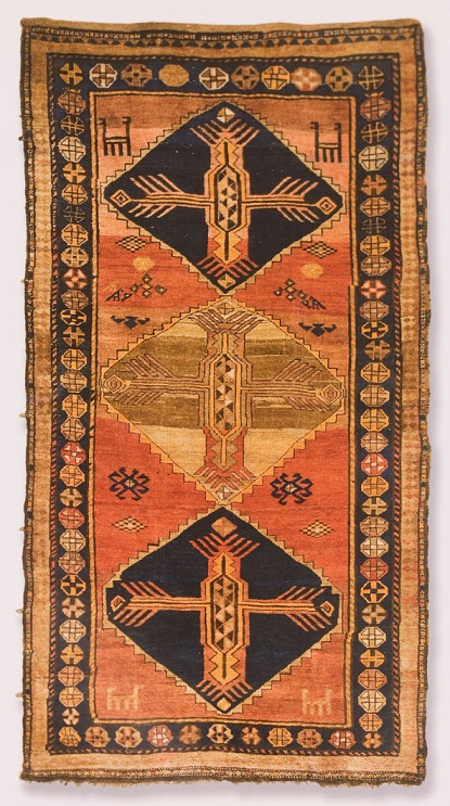 Ковер с медальонами. Тип «Астхаавк», XIX век. Сюник. Шерсть. Музей истории Армении