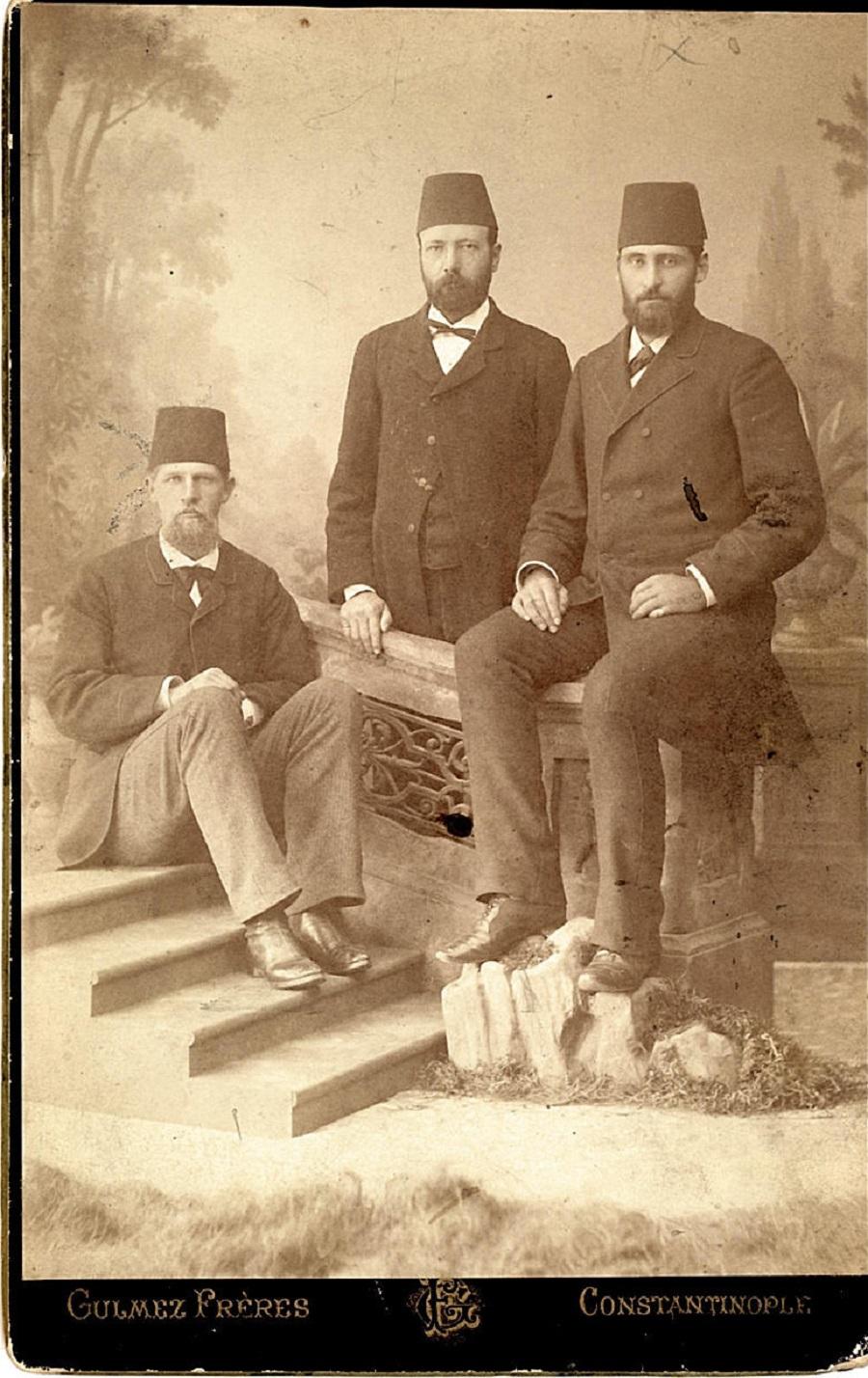 Слева направо: Фердинанд Хинтце, Яков Спори и Джозеф Тэннер | theancestorfiles.blogspot.com