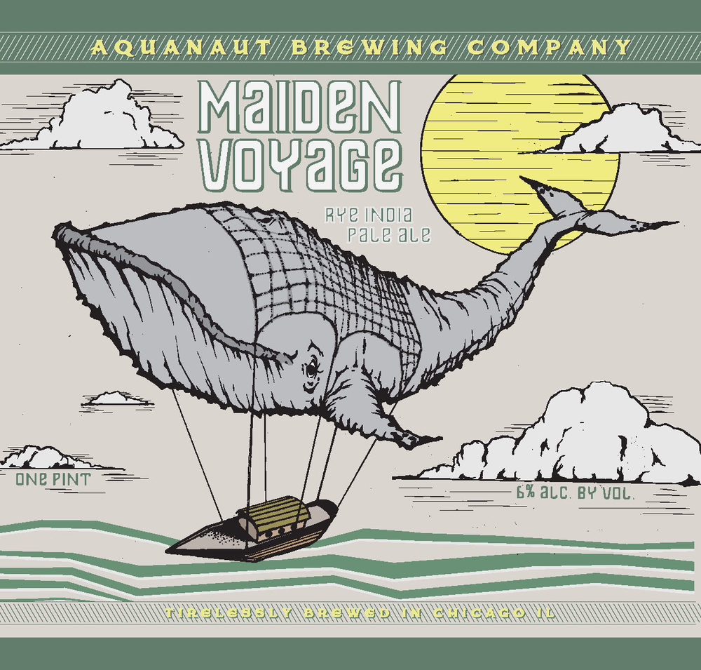 """""""Maiden Voyage"""" Rye I.P.A. 6% A.B.V Behold! An ale for the adventurous spirit, the explorer in us all. A grand, fruity IPA showcasing earthy rye malt and pronounced citrus complimented by fresh tropical fruit aromas. Although this ale could accompany you well on long travels, we recommend you enjoy it fresh."""