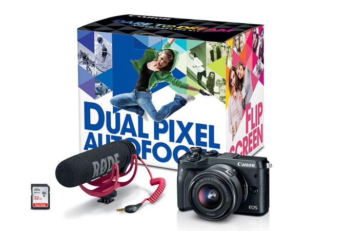 Canon M6 Mirrorless Creators Kit: $850