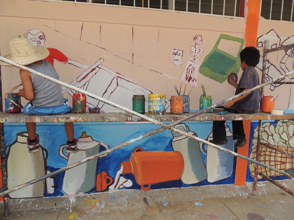 young muralists.... Jinotega, Nicaragua
