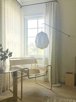 Linen Origami Balance Floor Lamp