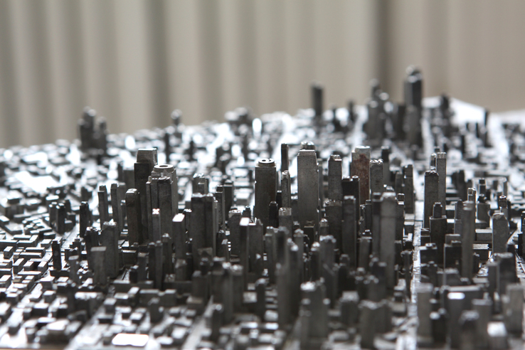 Hong Seon Jang, Type City, detail, 2015.