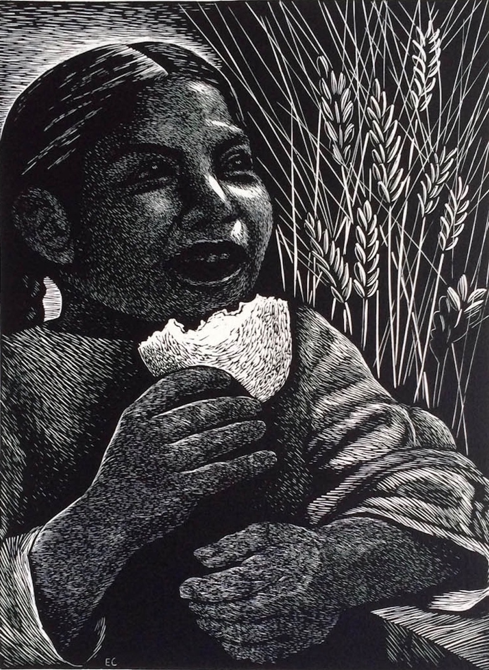 Elizabeth Catlett, Bread for All 1954 Art © Catlett Mora Family Trust/Licensed by VAGA, New York, NY