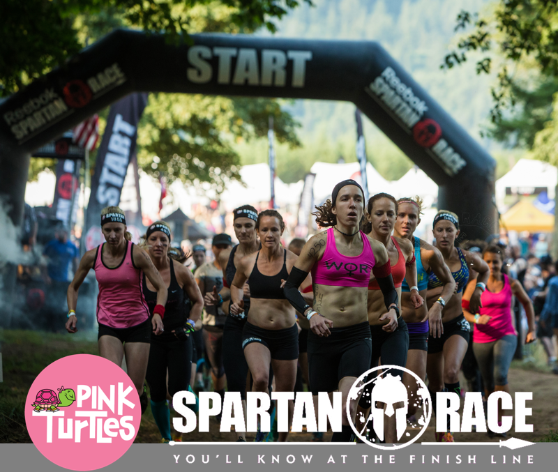 pink turtles spartan race