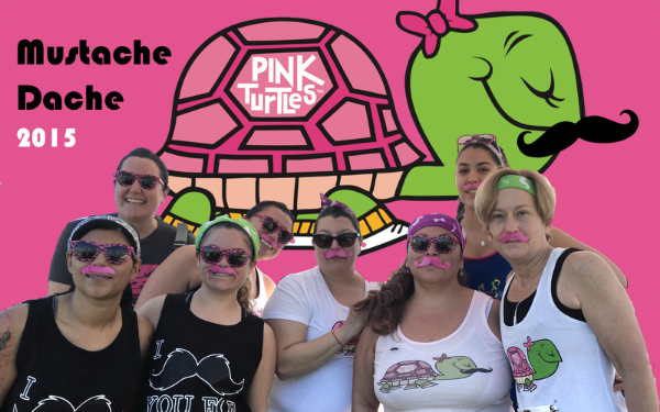 Pink Turtles Mustache Dasche Race