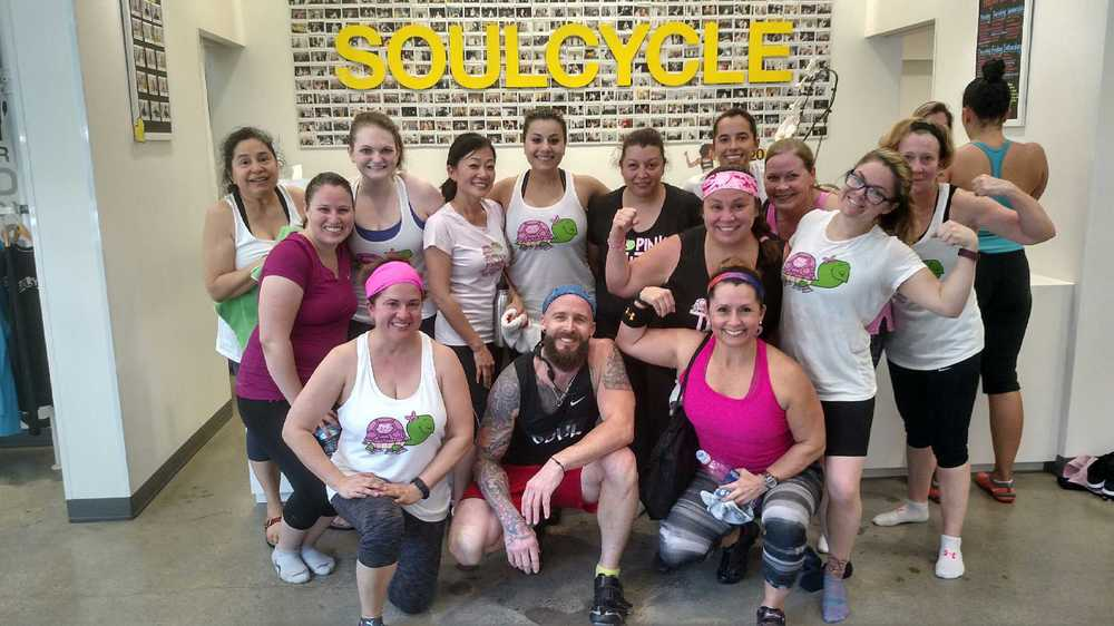 Pink Turtles SoulCycle Workout