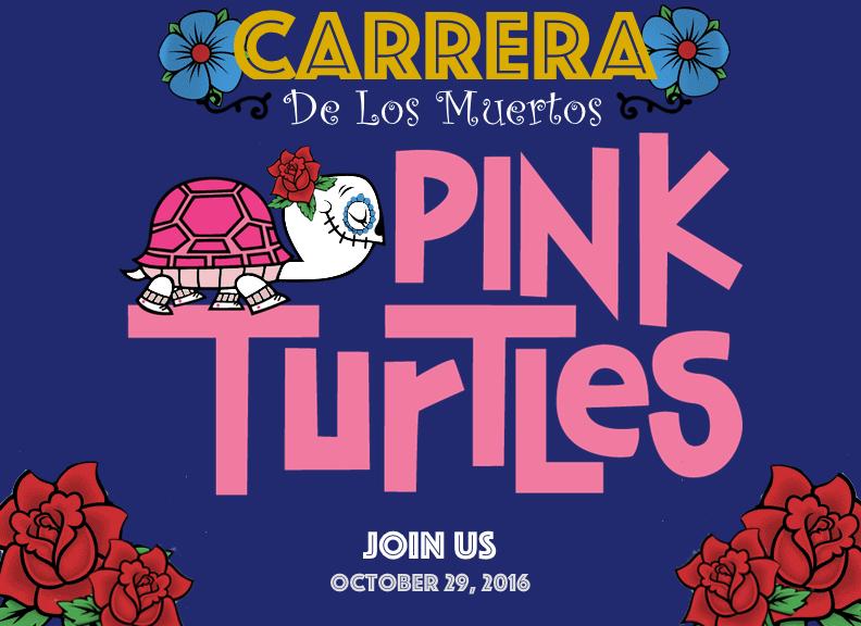 pink turtles carrera de los muertos race